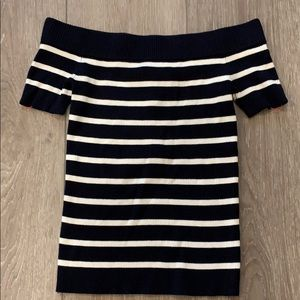 Catherine malandrino off shoulder striped top